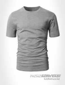 supplier kaos kosong moko konveksi - kaos polos cotton combed 30s warna abu misty